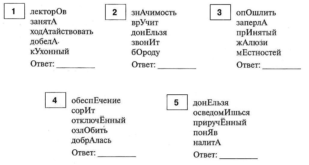 ЕГЭ по русскому языку. Задание 4