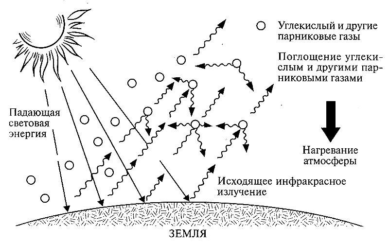 Механизм формирования парникового эффекта